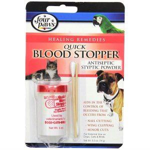 Polvo astringente para el sangrado de perros