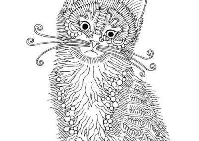 gato mandala para dibujar