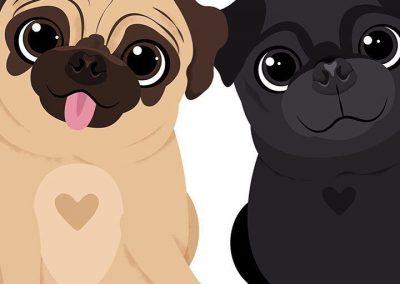 imagenes de perros pug bebes animados