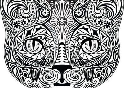 mandala cara de gato